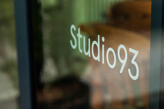 Studio93 Logo on Window